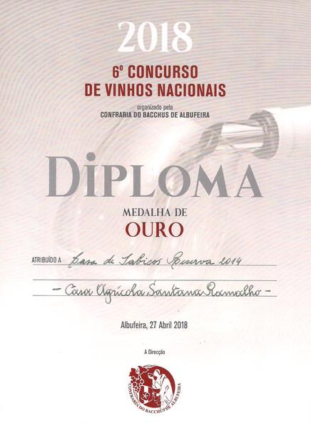 Medalha de Ouro para o Casa de Sabicos Reserva 2014 no 6º Concurso de Vinhos Nacionais
