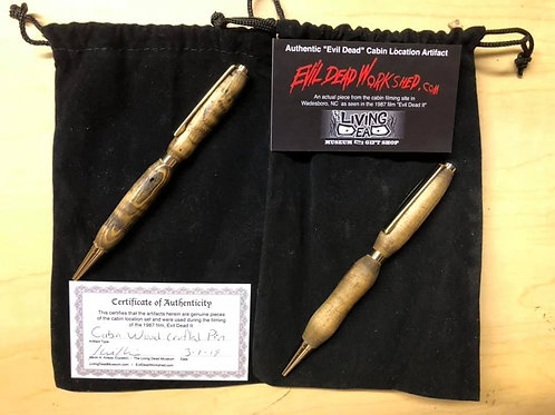 Ink Pen Crafted from Evil Dead 2 Cabin Wood