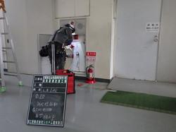 南館消火栓起動表示灯発信機取替1 施工中