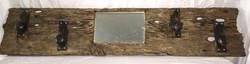Barn Wood Coat Rack with Mirror