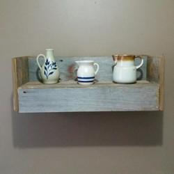 Rustic Barn Wood Conceal Shelf