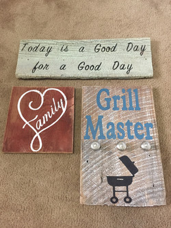 Barn Wood Hand Painted Signs