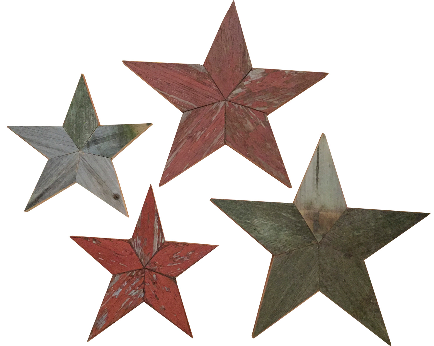 Salvaged Barn Wood 5 Point Stars