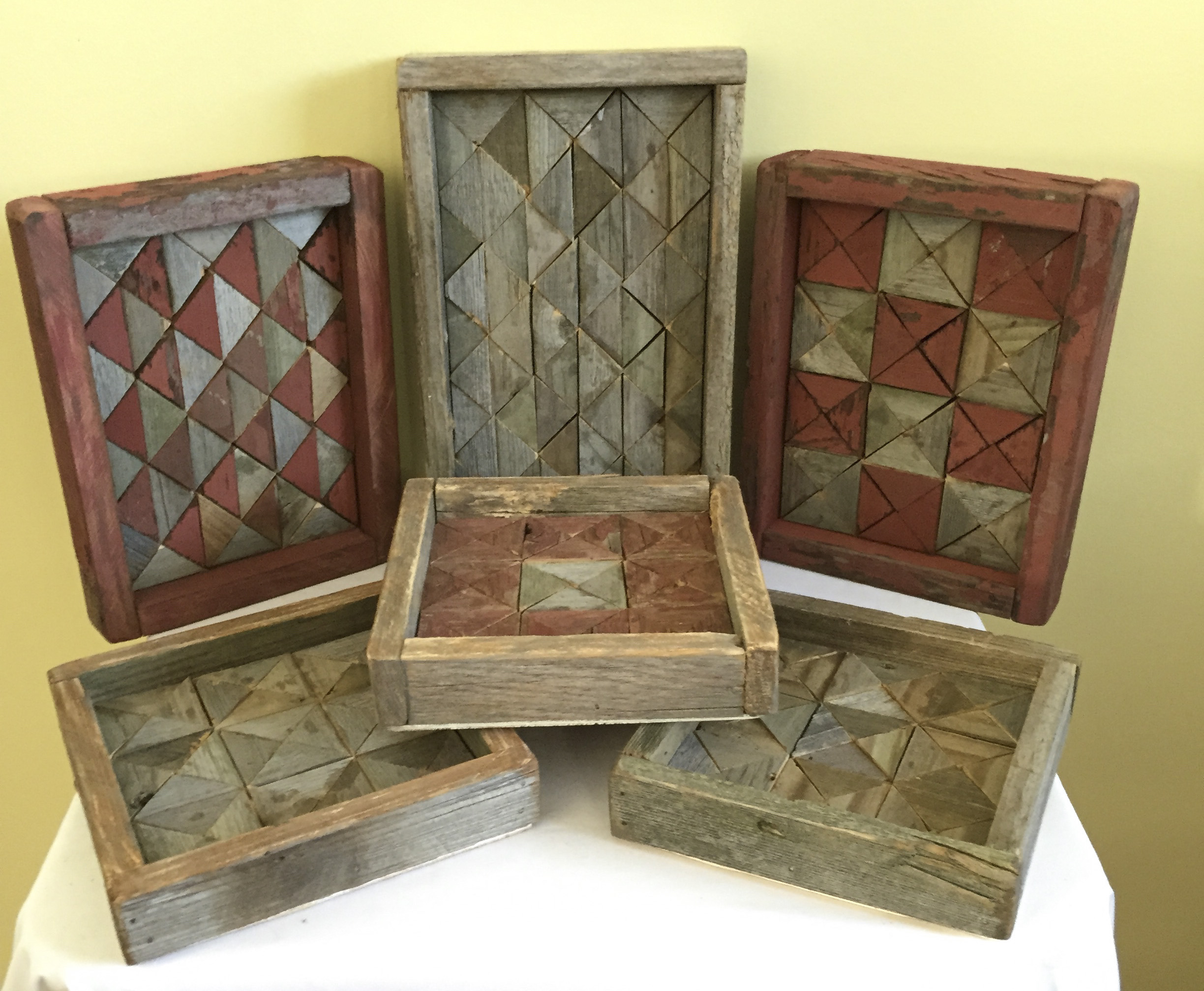 Barn Wood Trinket Trays