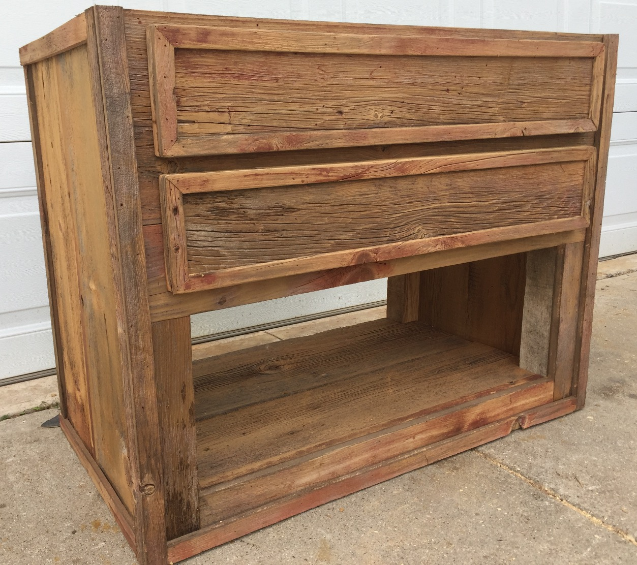 Custom Barn Wood Vanity