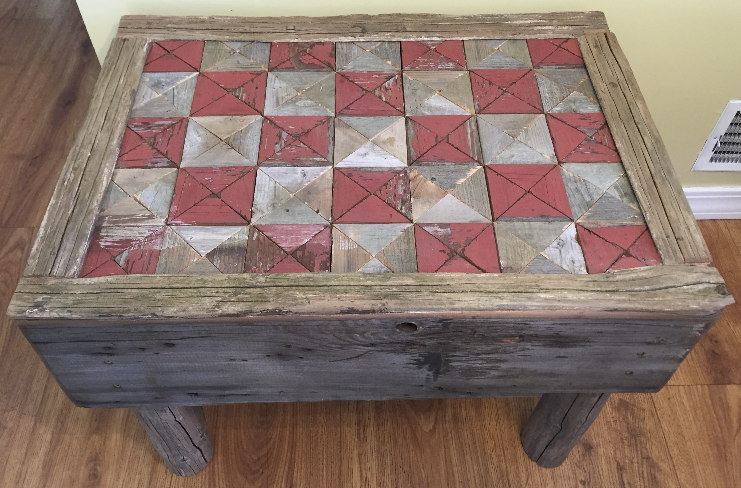 Checker Board Style Coffee Table