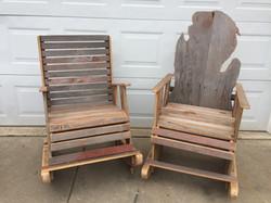 Rustic Barn Wood Rocking Chairs