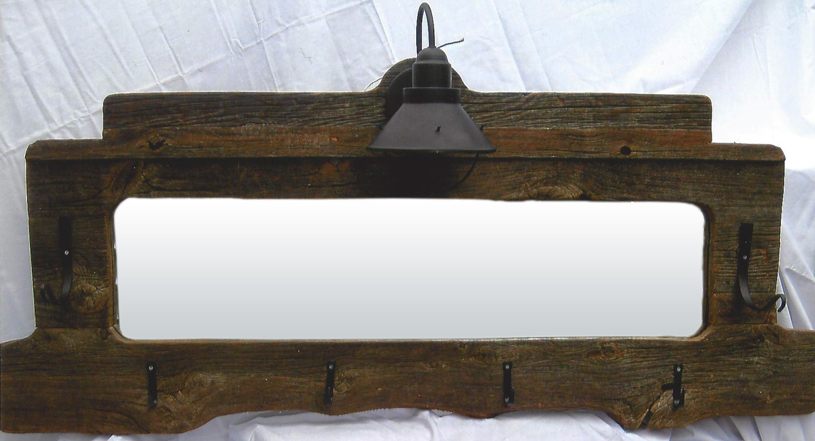 Lighted Coat Rack with Mirror