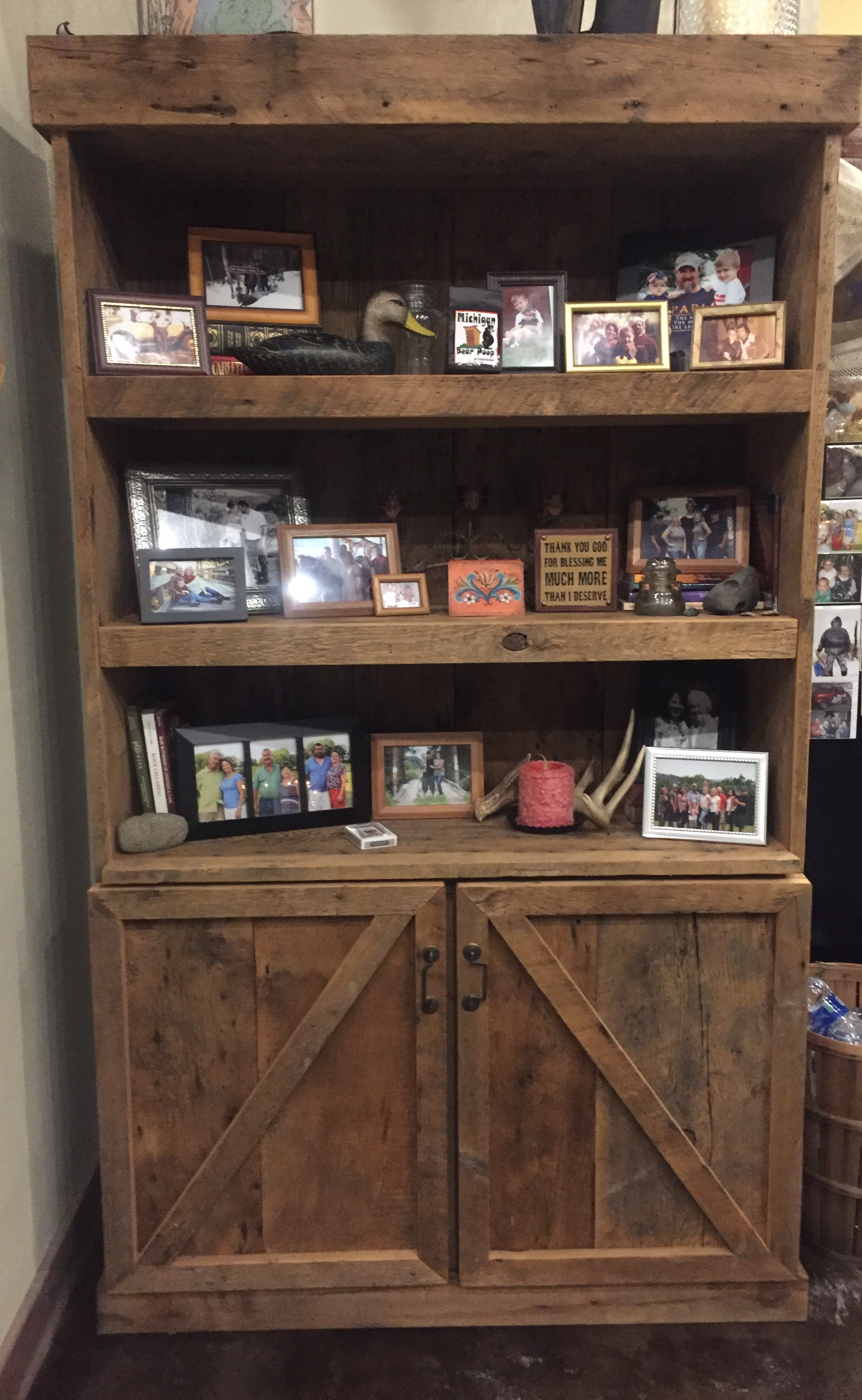 Custom Barn Wood Bookshelf