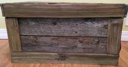 Barn Wood Flat Top Chest