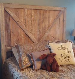 Custom Barn Wood Head Board
