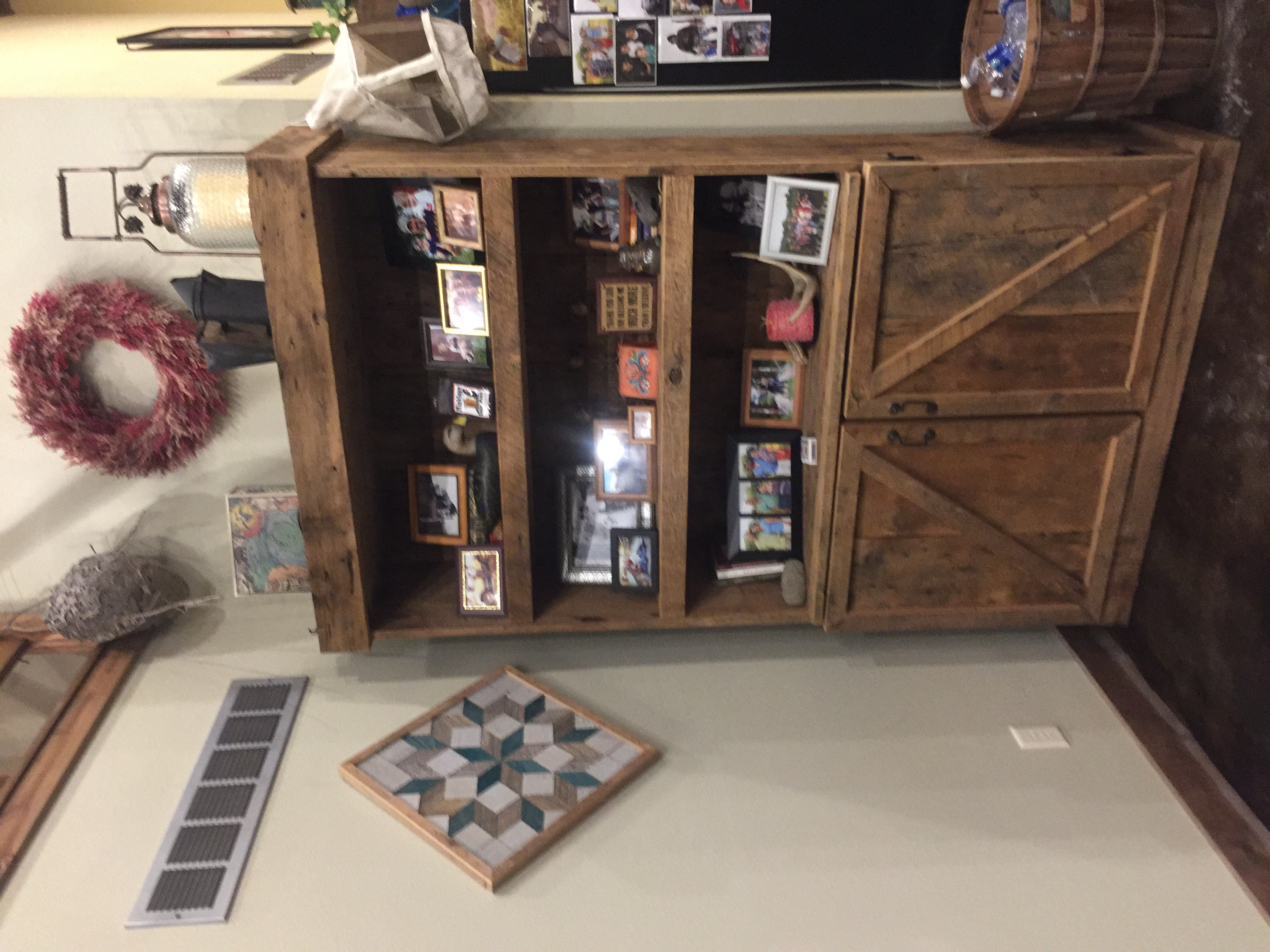 Barn Wood Book Case