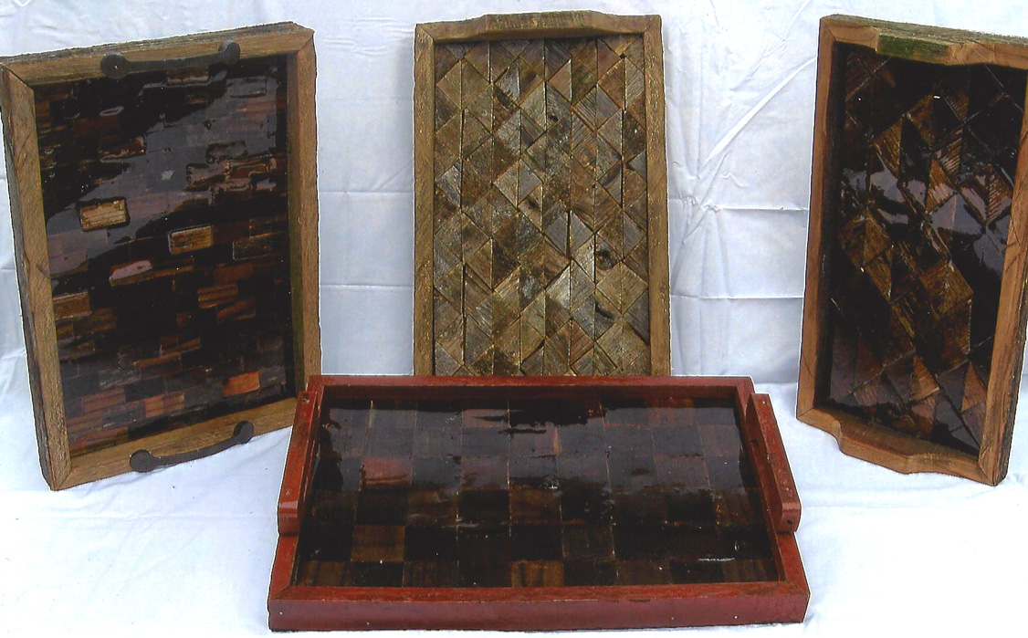 Rustic Barn Wood Serving Trays
