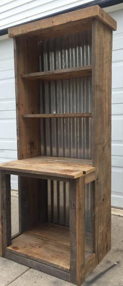 Rustic Book Shelf Dog Bed