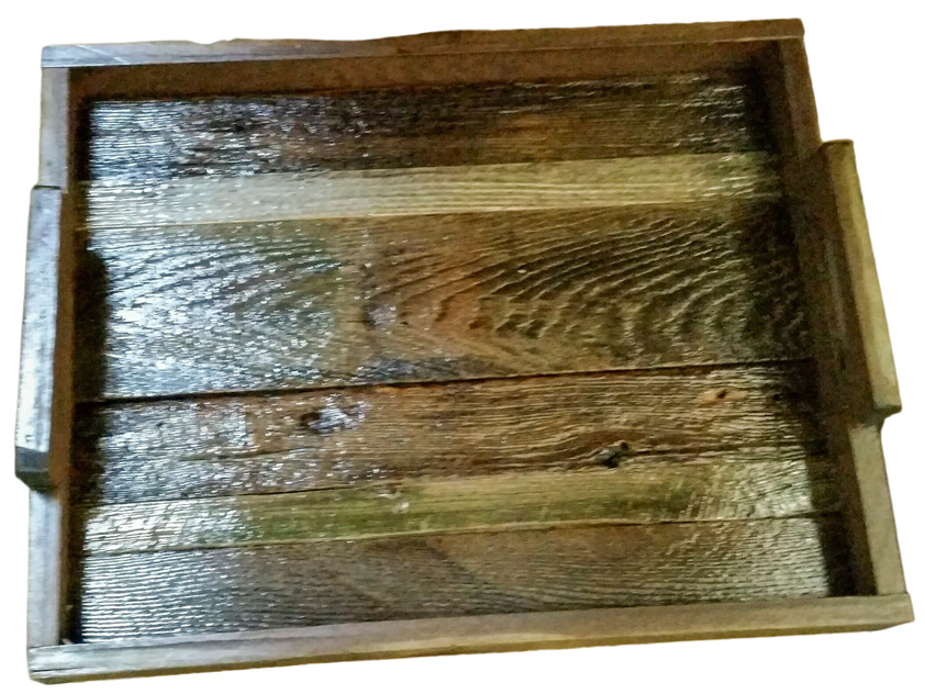 Barn Wood Slated Serving Tray