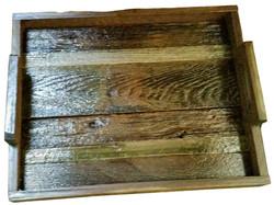 Barn Wood Slated Serving Tray