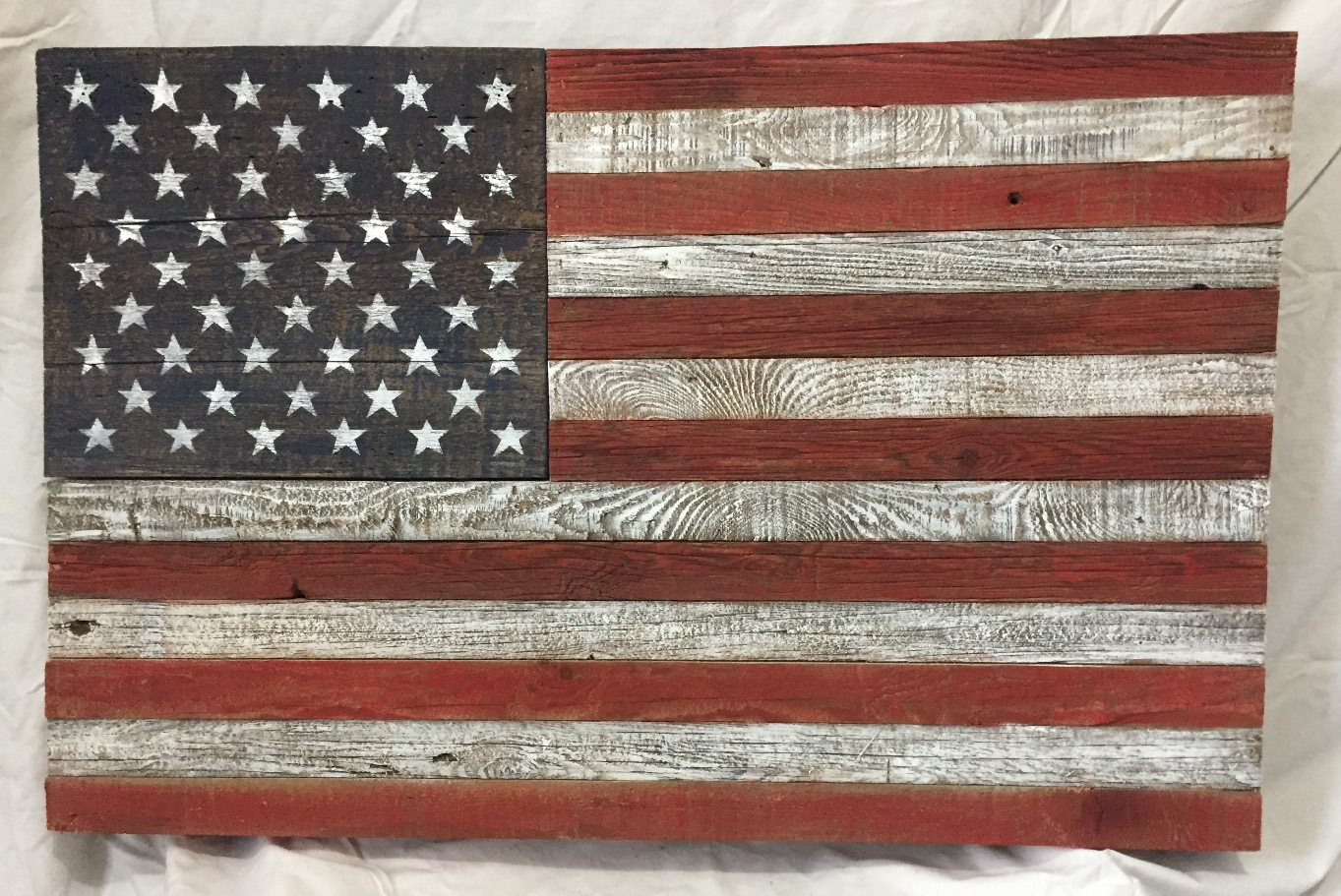 Hide Away Barn Wood Flag