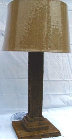 Square Barn Wood Table Lamp