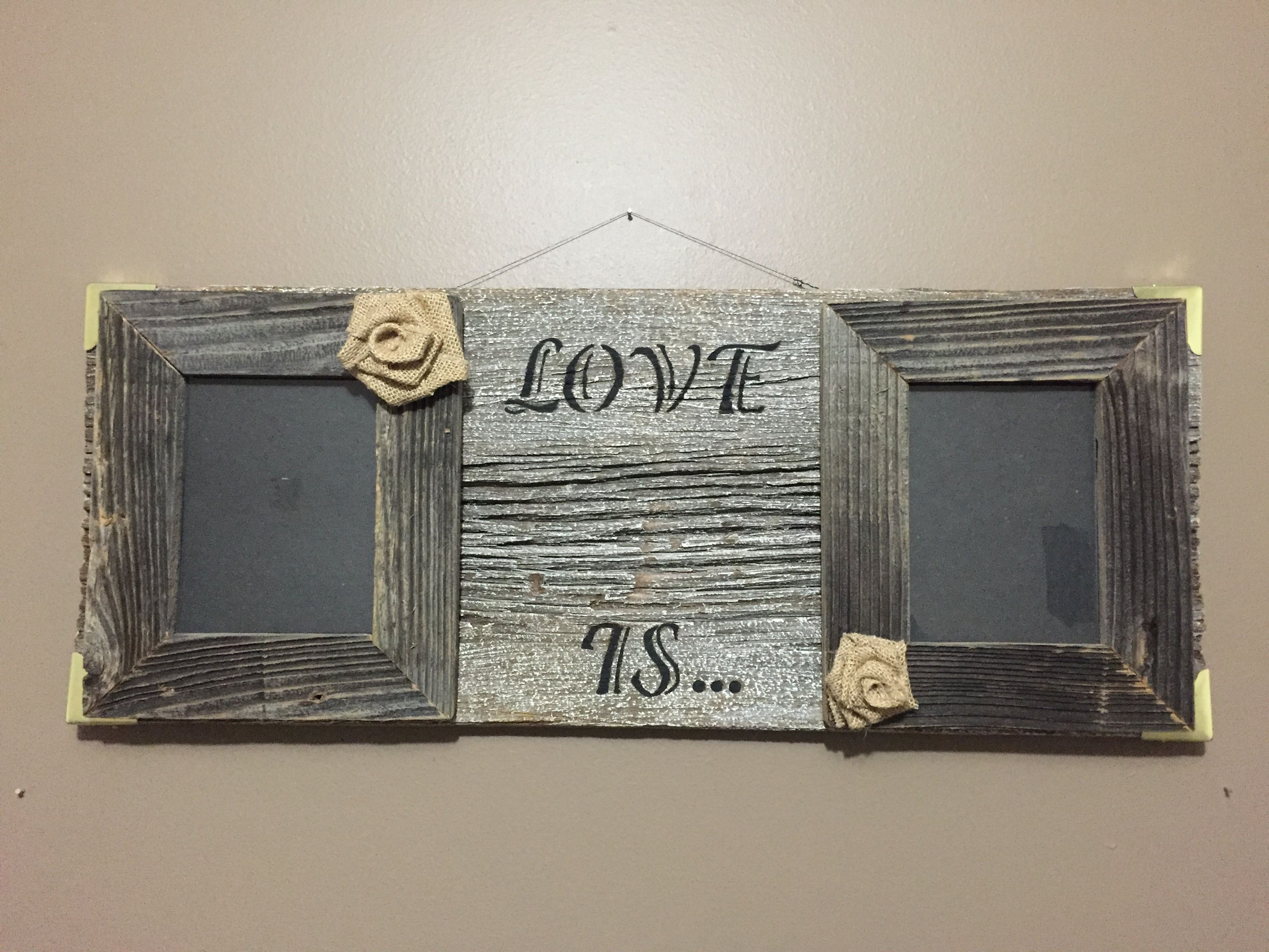 Rustic Barn Wood Sign LOVE IS