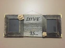 Rustic Barn Wood Sign LOVE IS