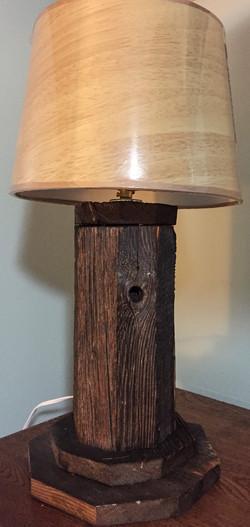 Barn Wood Octagon Table Lamp