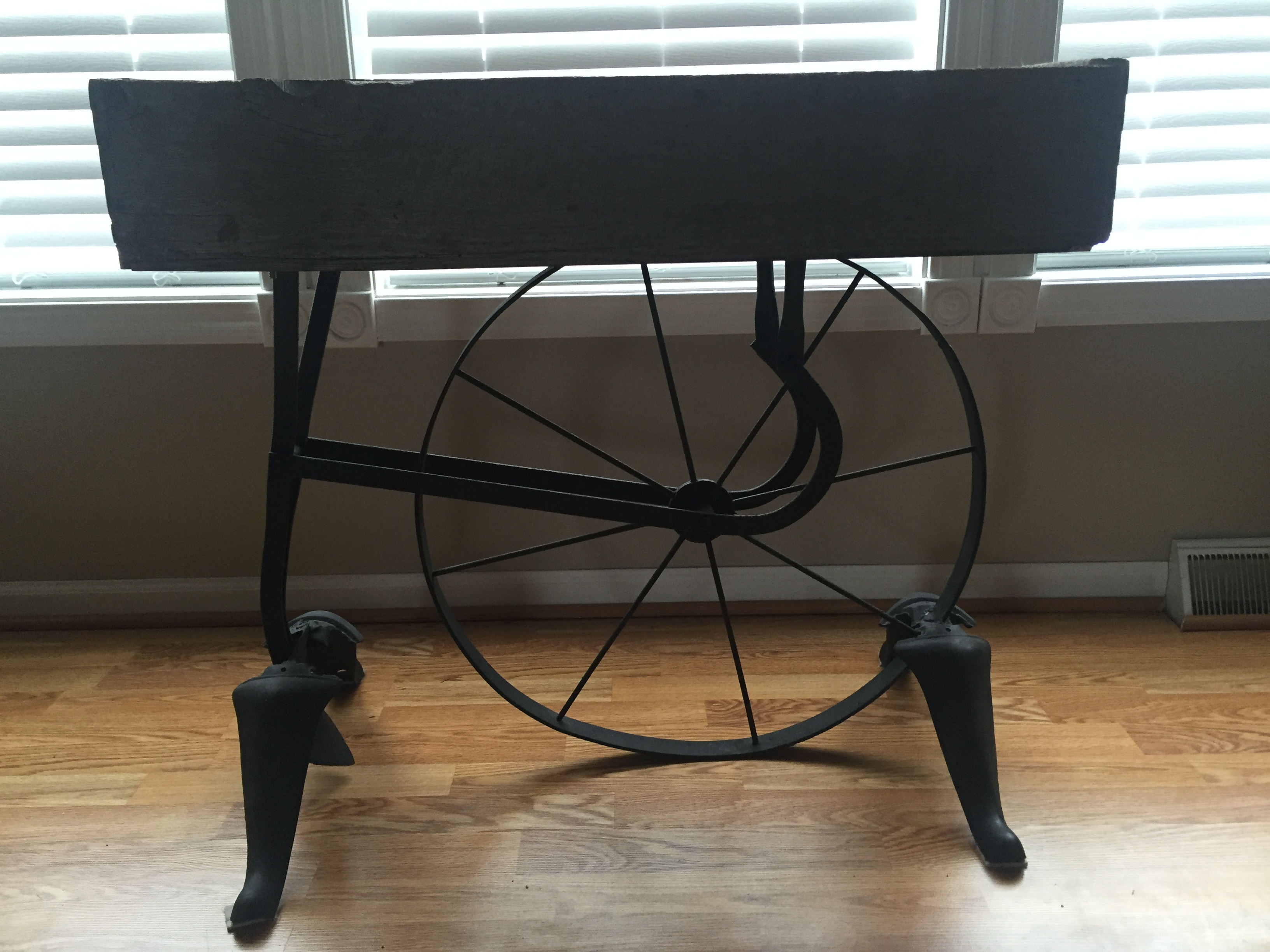 Barn wood Antique Plow Table