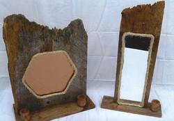Barn Wood Mirrored Sconces