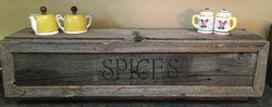 Barn Wood Countertop Spice Cabinet