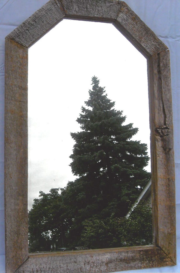 Barn Shaped Framed Mirror