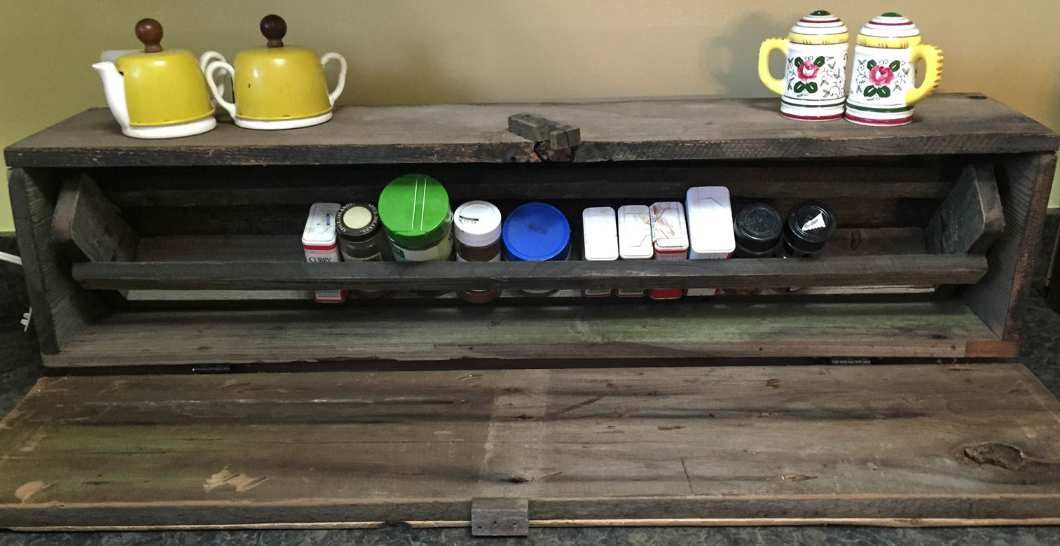 Rustic Single Shelf Spice Cabinet