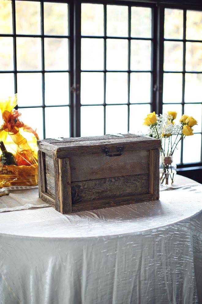 Barnwood Wedding Card Box