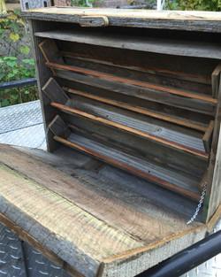 Barn Wood Three Tier Spice Cabinet