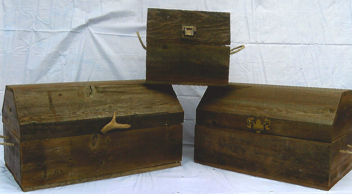 Barn Wood Treasure Chests
