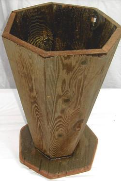 Wood Umbrella Holder or Flower Pot