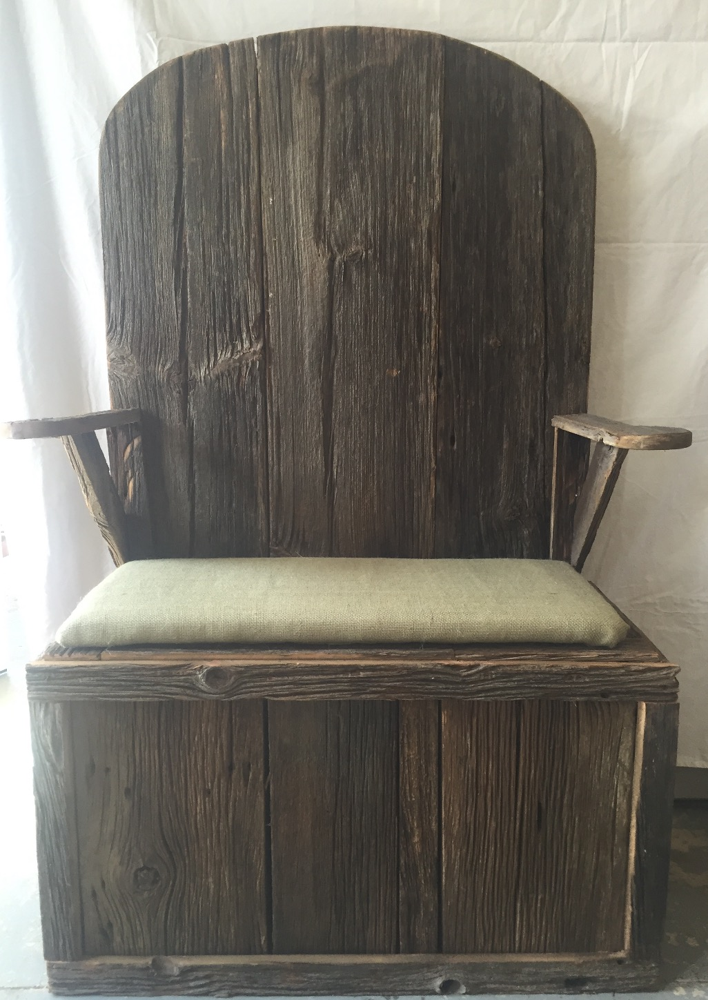 Barn Wood Storage Chair