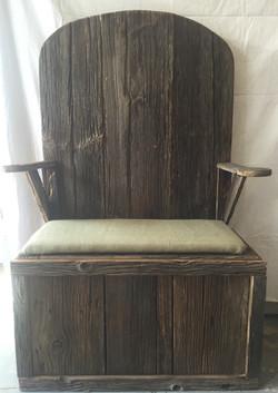 Barn Wood Storage Chair
