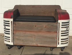 Barnwood Tractor Grill Bench