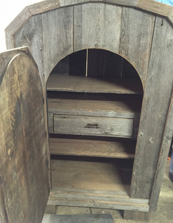 Barn Wood Armoire with mirror