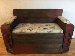 Antique Tractor Grill Bench