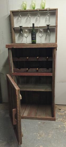 Rustic Red Barn Wood Wine Bar