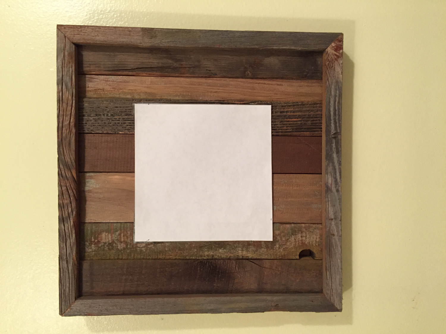 Barn wood display board w/slats