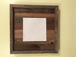 Barn wood display board w/slats
