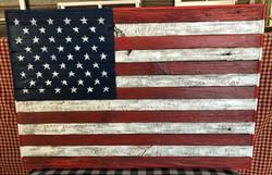 Barn wood Hand Painted American Flag