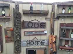 Horse Shoe Signs on Barn Wood