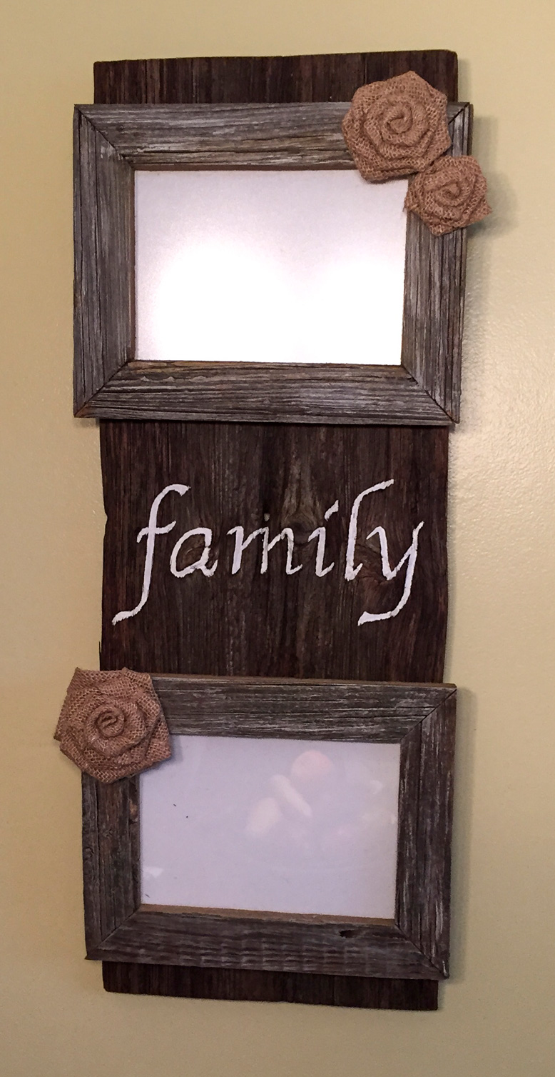 Family Barn Wood Picture Frames