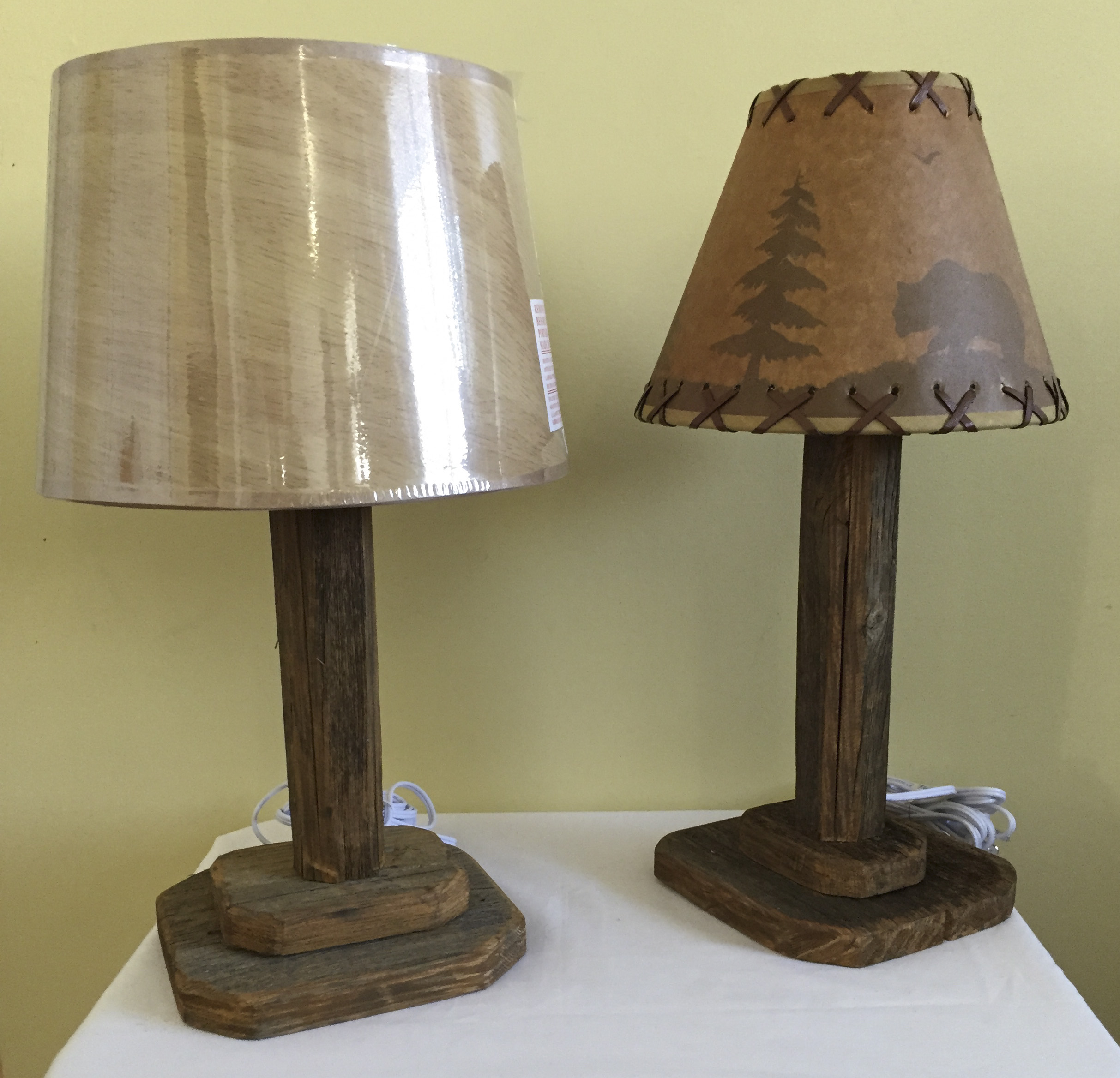 Square Barn Wood Table Lamp