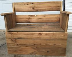 Barn Wood & Walnut Bench