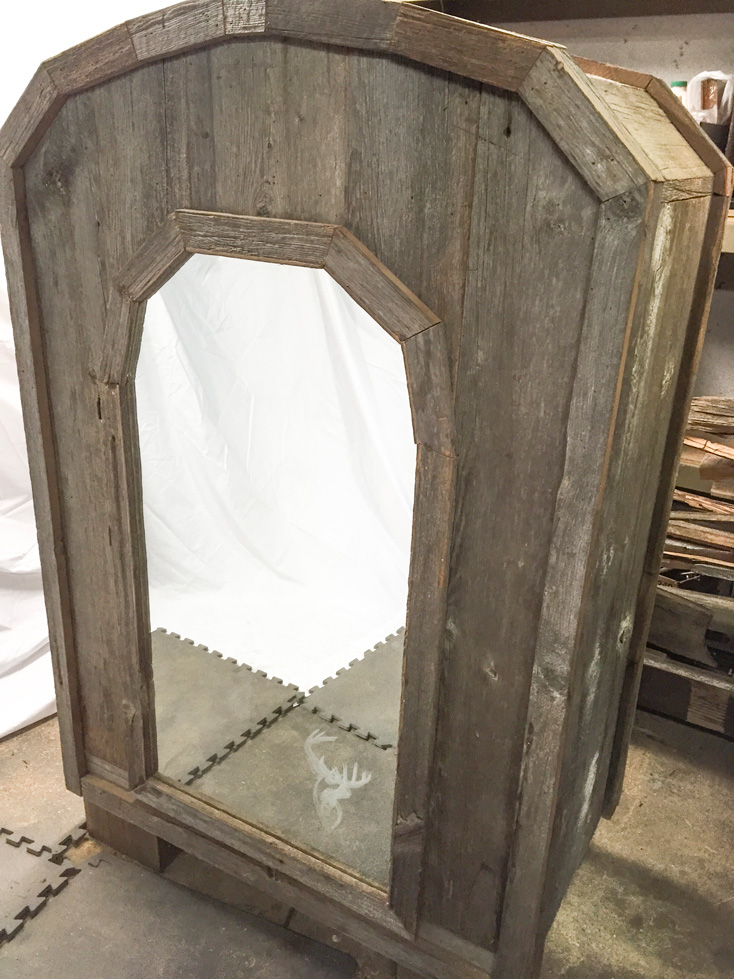 Rustic Armoire with mirror