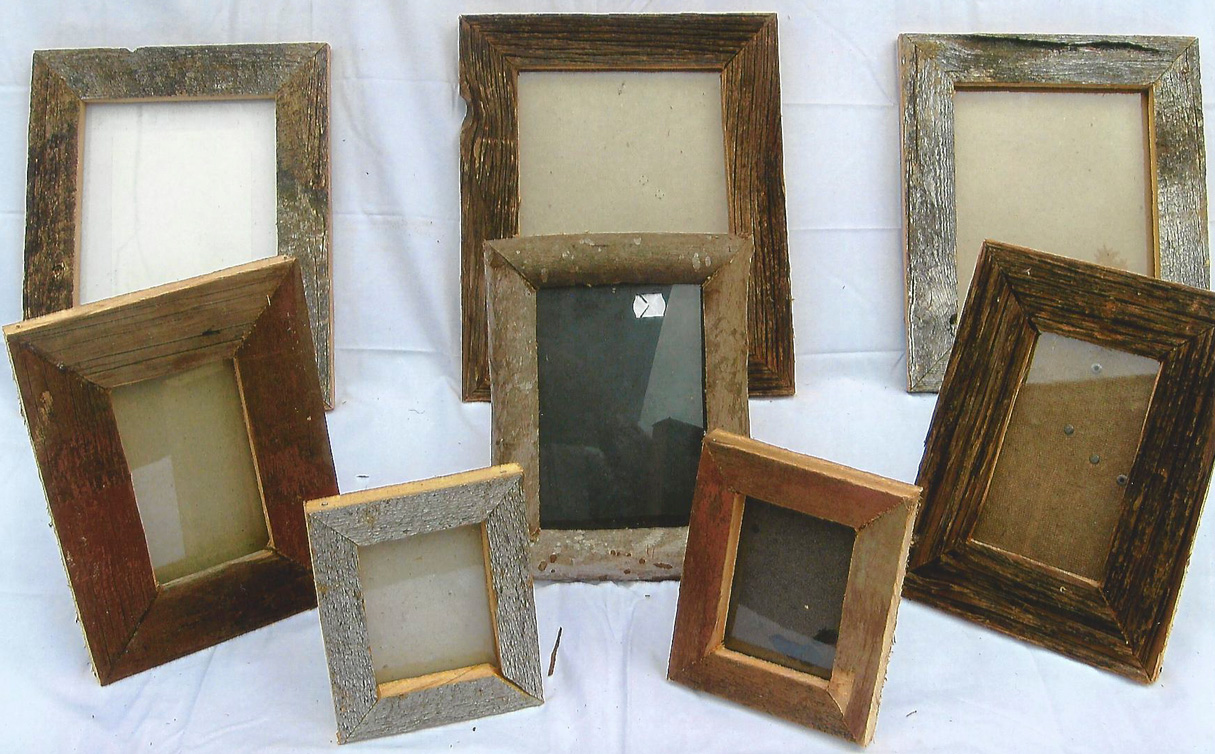 Barn Wood Picture Frames with Glass