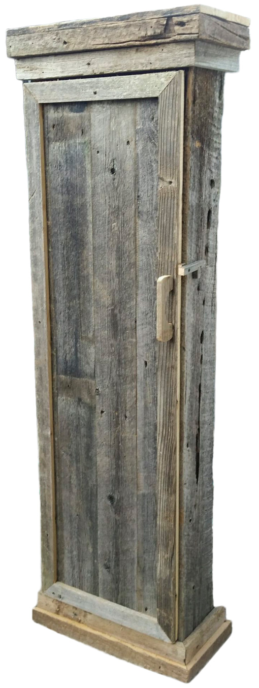 Tall Narrow Barn Wood Cabinet